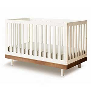 a brand new baby crib with a simple design