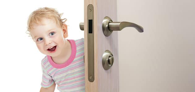Baby proofing needed on an easily opened door