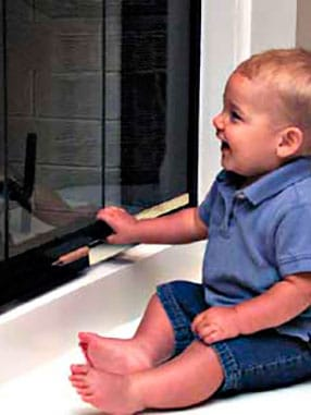 baby proof fireplace door lock
