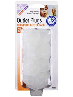 Child proof plastic caps for electrical outlets