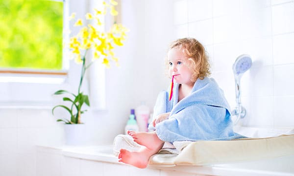 How to safely baby proof your bathroom