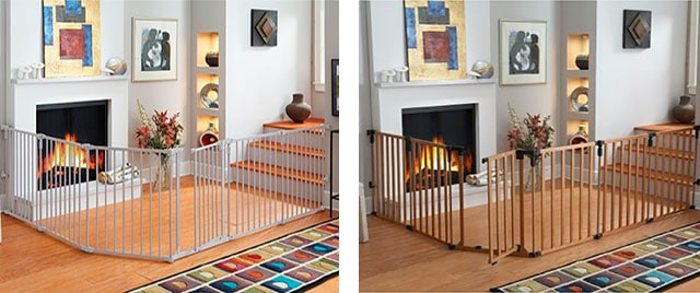 metal and wooden baby gates