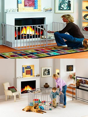baby proof fireplace gate and play yard
