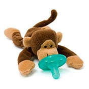 Brown baby monkey pacifier
