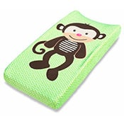 Green Monkey  baby changing pad cover