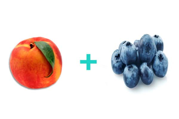 Peach and blueberry baby food recipe