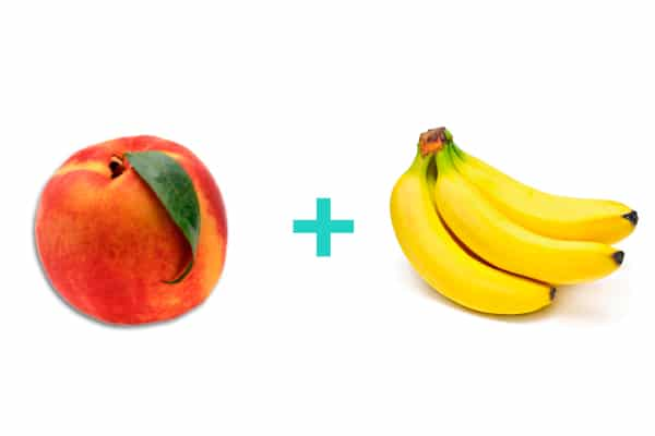 peach + banana = baby food
