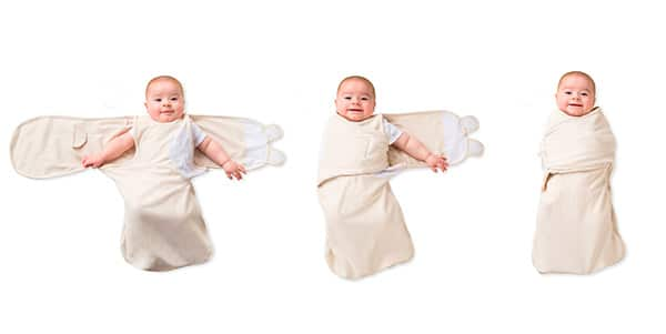 three steps to using a swaddle wrap