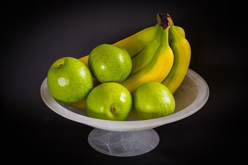 Fruits with black background
