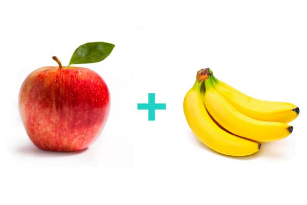 apple + banana