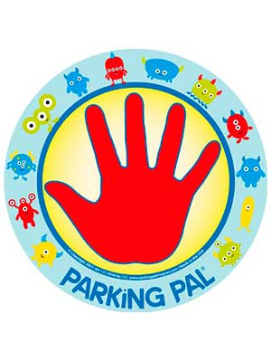 a magnet that teaches children safety in the car park