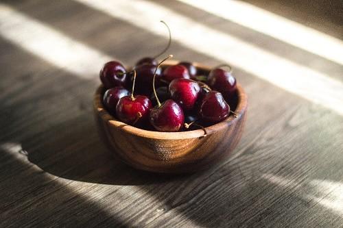 bunsh of red cherries