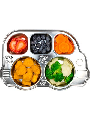 Stainless steel baby food bus tray
