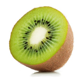 kiwi fruit cut into half for baby food