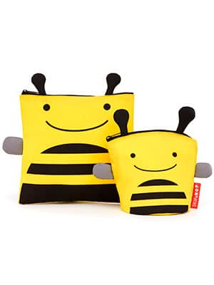resealable baby food bags bee themed