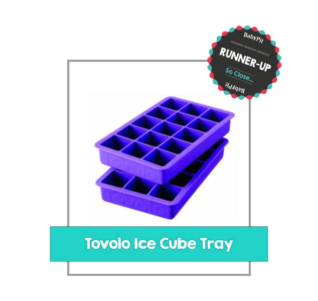 purple tovolo frozen baby food ice cube tray