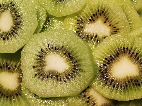 Sliced Kiwi green fruit