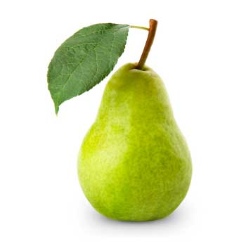 A green pear used in the following baby food recipes