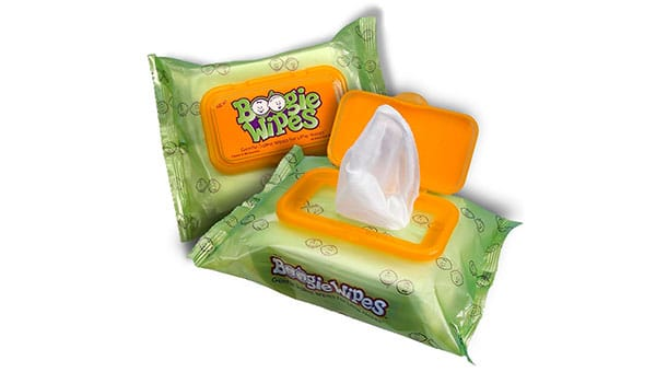 gentle snot wipes for babies with a runny nose