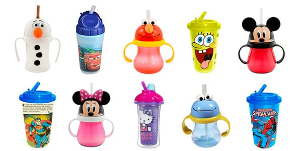 different types of character baby cups