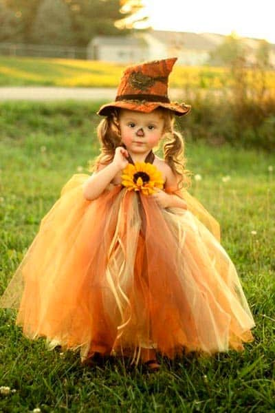 Girls tutu scarecrow costume for halloween