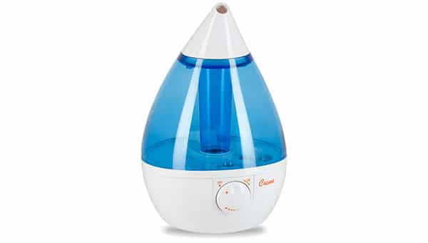 Humidifier to clear congestion in a  baby at night