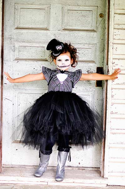 Jack skellington tut halloween costume for girls