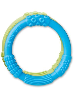 life factory multi sensory silicone baby teether