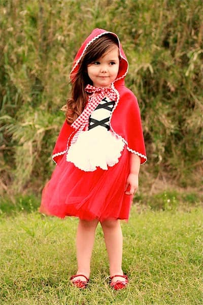 Girls little red riding hood halloween tutu costume