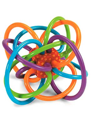 Manhattan Toy Winkle Rattle and Sensory Teether Activity Toy