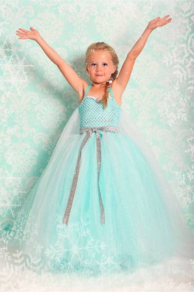 Queen elsa from frozen girls halloween costume