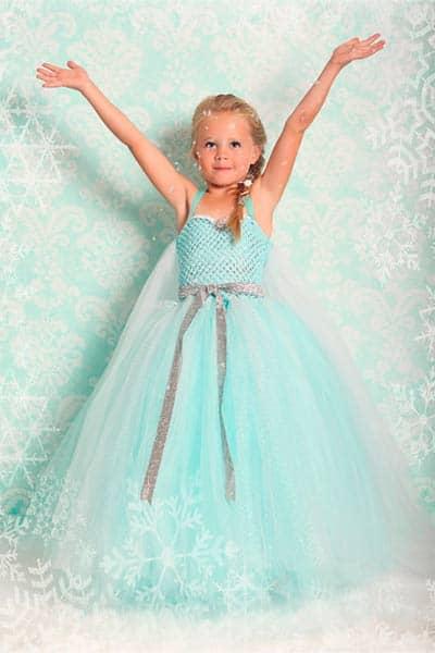 Queen elsa from frozen girls halloween costume