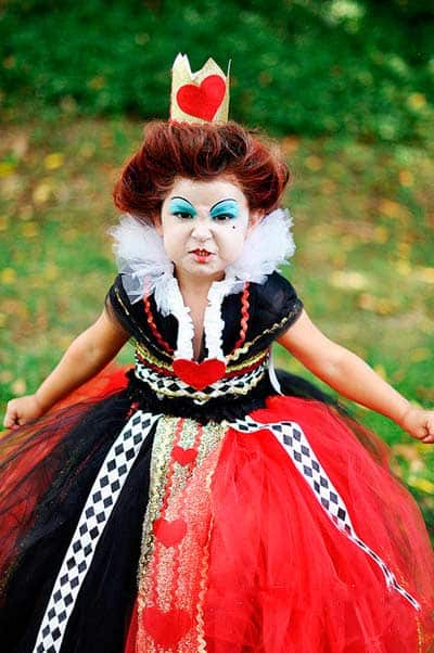 Queen of hearts tutu halloween costume for girls