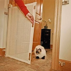 retract-a-gate frabric baby gate for narrow doors