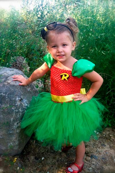 Robin tutu halloween costume for girls