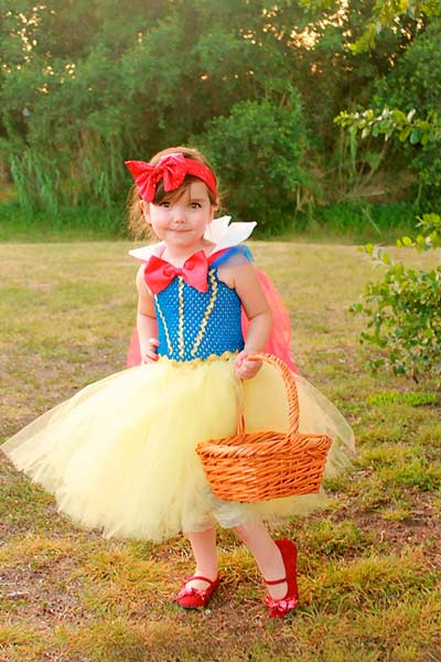 snow white tutu halloween costume for girls