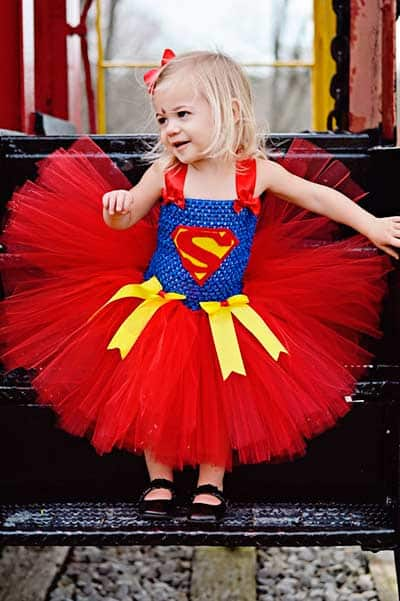 Super woman girls tutu dress for halloween