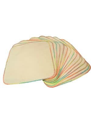 unbleached cloth baby wipes