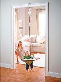 baby bouncing in a doorway baby jumper