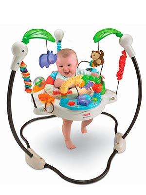 zoo themed stationary baby jumper