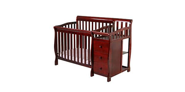 multipurpose baby crib with change table
