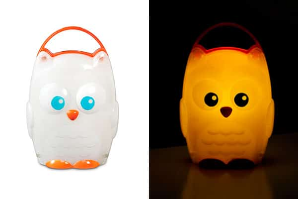 owl baby night light glowing in the dark