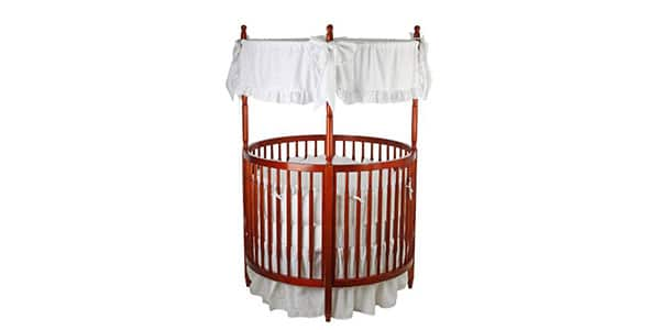 Round baby crib with canopy