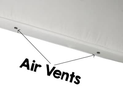 air vents in the side of a crib mattress