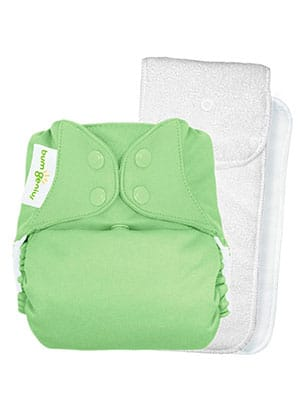 green cloth pocket diaper - bum genius - best tin class