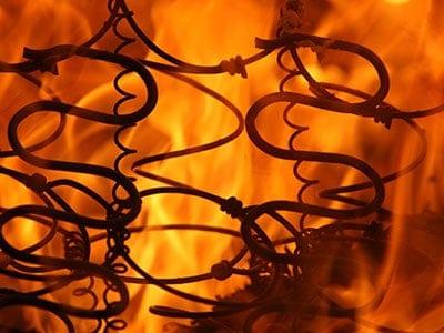 crib mattress set on fire
