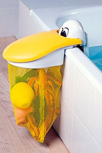 bath tub mounted toy organizer in a pelican theme