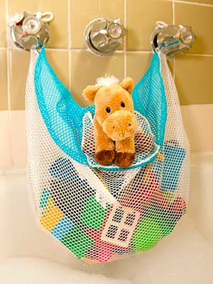 bath toy storage net without suction cups
