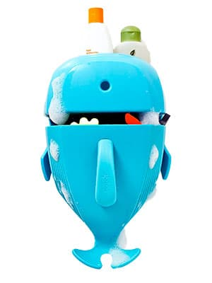best bath scoop and toy organizer in the shape of a whale