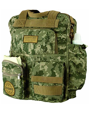 army camo diaper bag for men